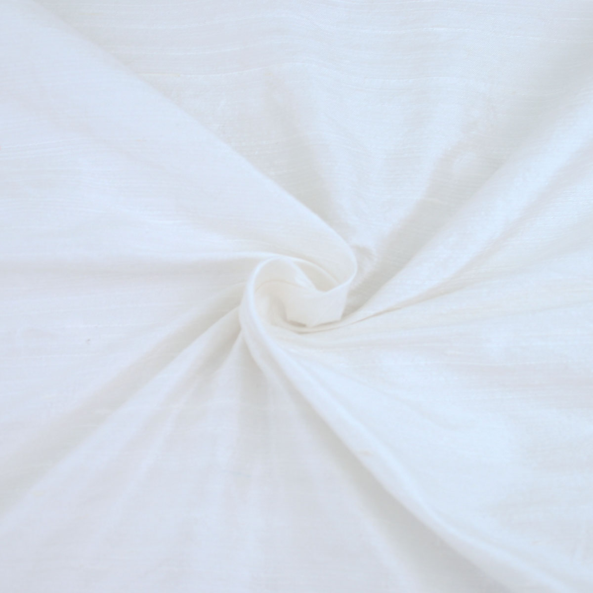 White Dupion Silk